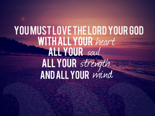 Love God with all your mind (Part 1 of 3). It aint just about getting ...