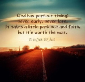 Is God ever late? What do you think?
