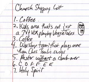 church_shopping_list